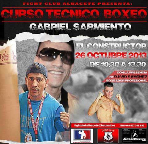 Photo of Gabriel Sarmiento Curso Técnico Boxeo en Albacete 26/10/13