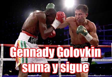 Photo of Gennady Golovkin ante Osumanu Adama sigue arrasando