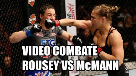 Photo of Video pelea Ronda Rousey vs. McMann UFC 170
