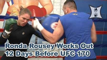Photo of Entrenamiento Ronda Rousey antes de su combate en el UFC 170