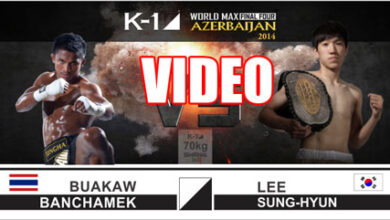 Photo of Video Buakaw vs Lee Sung-Hyun – K-1 World MAX Final Four