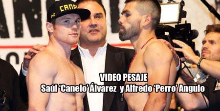 Photo of Video pesaje Saúl 'Canelo' Álvarez  y Alfredo 'Perro' Angulo