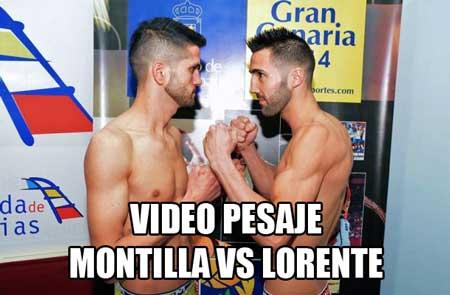 """Photo of Video Pesaje Cristian Montilla """"Pluto"""" vs Angel Lorente """"Lillo"""