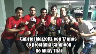 Campeón de Mauy Thai con 17 años