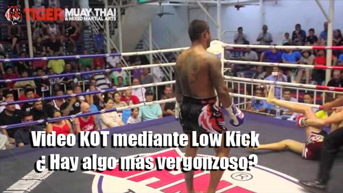 Photo of Video KOT mediante Low Kick ¿ Hay algo más vergonzoso?