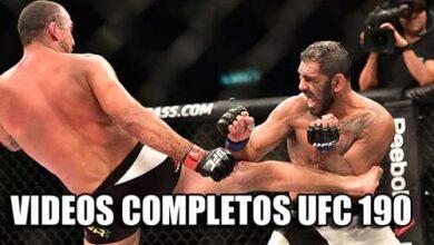 Photo of Videos completos UFC 190