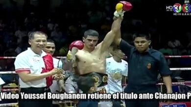 Photo of El Belga  Youssef Boughanem retiene el titulo ante Chanajon PK