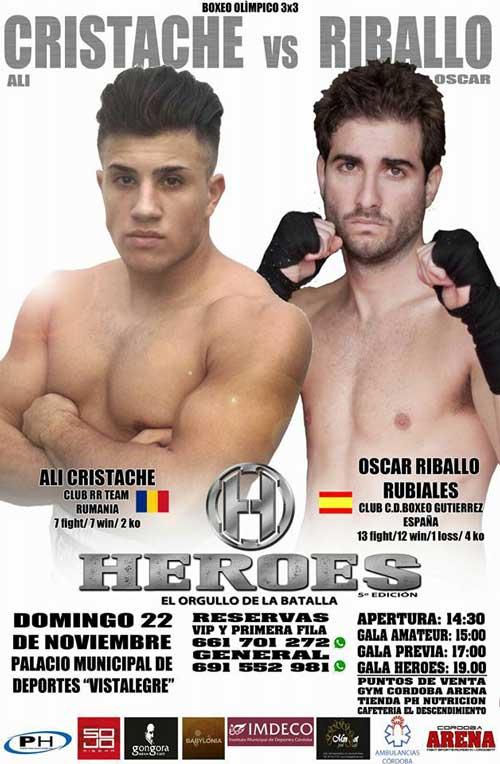 Photo of Ali Cristache vs Oscar Riballo pelearán en Boxeo en HEROES V