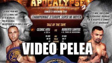 Photo of Video de la pelea de Roberto Santos y Cedric Vitu