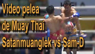 Photo of Video pelea de Muay Thai Satanmuanglek vs Sam-D. Lumpini 25-12- 2015