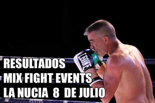 Photo of Resultados Mix Fight Events 8 de Julio en La Nucia