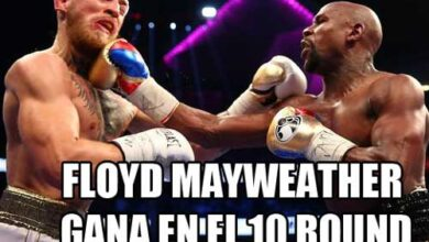 Photo of Floyd Mayweather vence en el 10 a Conor Mc Gregor