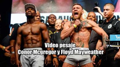 Photo of Video pesaje Floyd Mayweather vs Conor Mc Gregor
