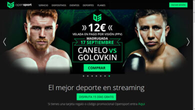 Photo of Canelo – Golovkin en OpenSport en España por 12 €