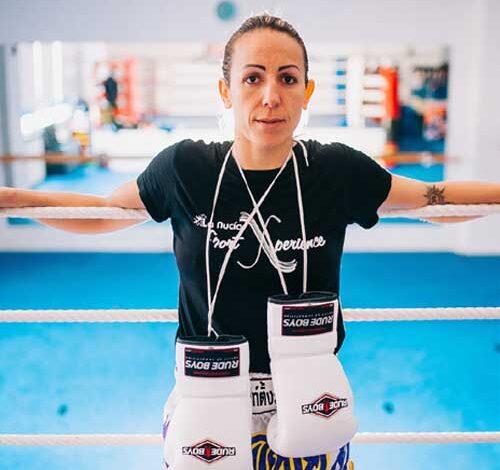Photo of Eva Mº Naranjo entrevistada por Ramón Palomar