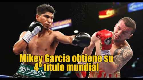 Photo of Mikey Garcia obtiene su 4º título mundial