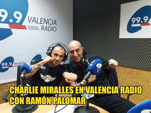 Photo of Charlie Miralles  entrevistado por Ramón Palomar en Valencia Radio