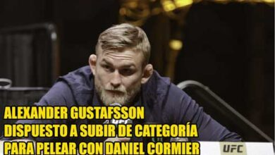 Photo of Alexander Gustafsson dispuesto a subir de categoría para pelear con Daniel Cormier