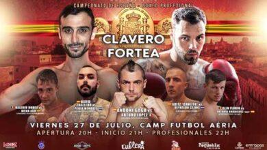 Photo of Velada Boxeo en Cullera 27 de Julio-Cto España Clavero-fortea