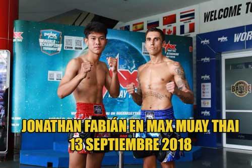 Photo of Jonathan Fabián luchará en Max Muay Thai 13 Sep. 2018