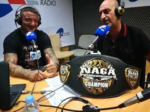 Photo of Tito Beltrán en  Valencia Radio con Ramón Palomar