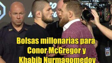 Photo of Bolsas millonarias para Conor McGregor y Khabib Nurmagomedov