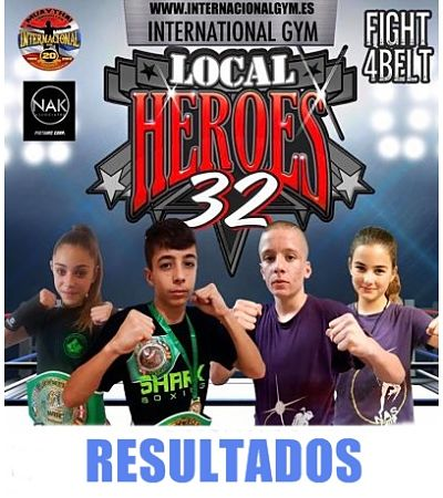 """Photo of RESULTADOS 1/12/2018 LOCAL HEROES 32 """"fight4belt"""""""