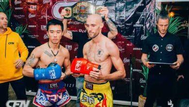 Photo of Combate de Muay Thai Internacional entre Carlos Coello y Pak Yu Leun