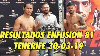 Photo of Resultados Enfusion 81- Tenerife 30-03-19