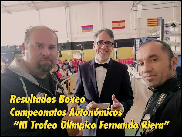 """Photo of Resultados Boxeo Campeonatos Autonómicos """"III Trofeo Olímpico Fernando Riera""""."""
