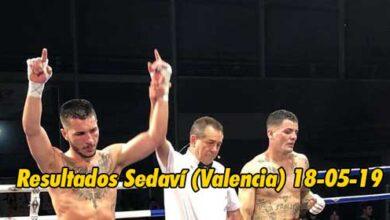 Photo of Boxeo: Resultados Sedaví (Valencia) 18-05-19