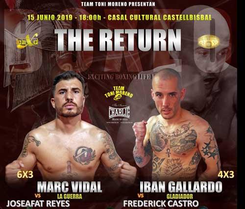 "Photo of 15 Junio Castellbisbal BOXEO ""THE RETURN"" – MARC VIDAL Y IBAN GALLARDO VUELVEN AL RING"