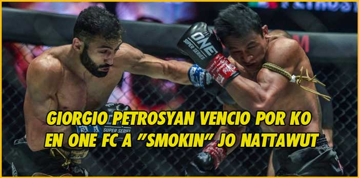 Photo of Giorgio Petrosyan vencio por KO en One FC a «Smokin» Jo Nattawut