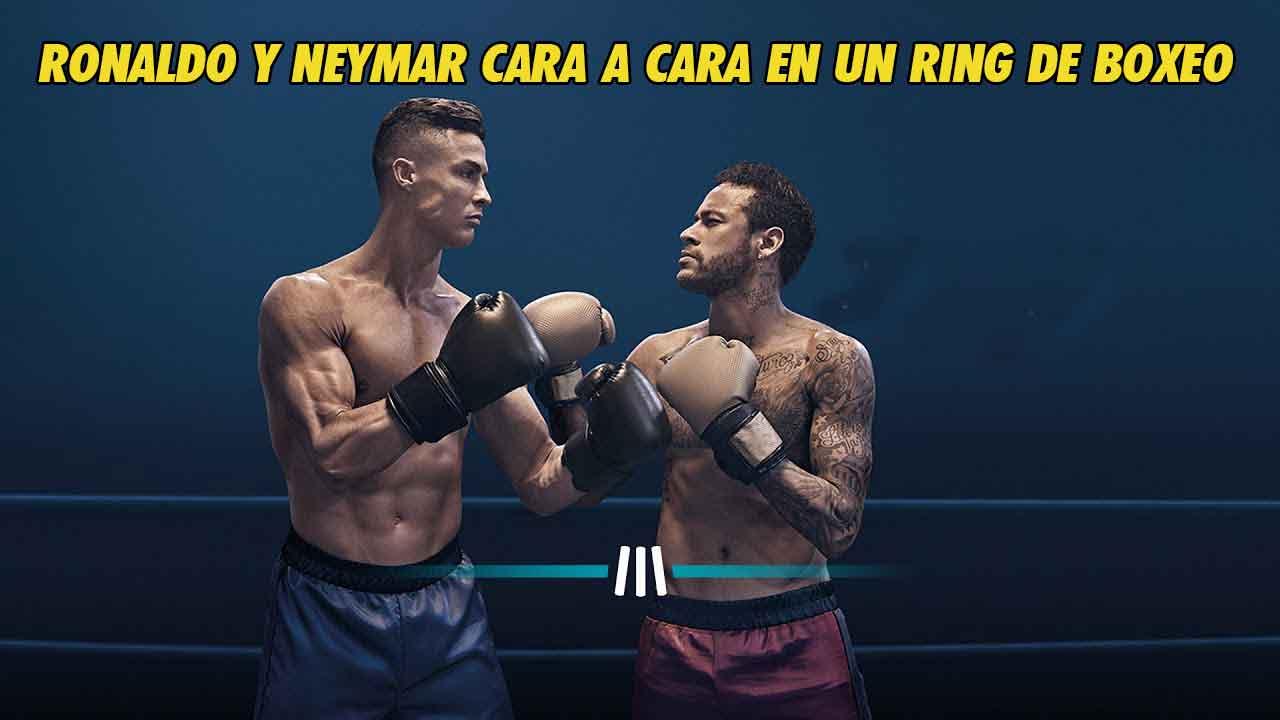 Photo of Ronaldo y Neymar en un ring de BOXEO !!!