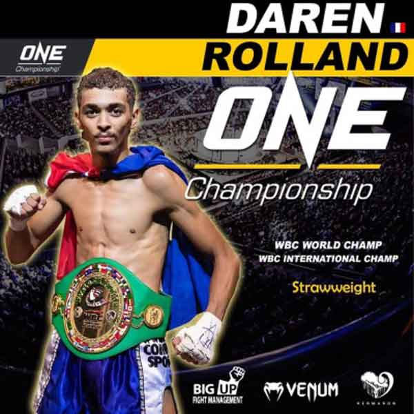 Photo of Daren ROLLAND vs. SAM-A confirmado en One FC