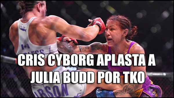 Photo of CRIS CYBORG APLASTA A JULIA BUDD POR TKO-VIDEO HL