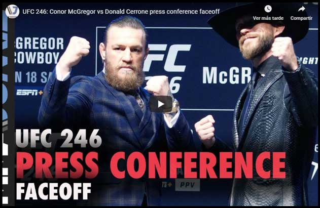 Photo of McGregor vs Cowbow FACE to FACE-VIDEO