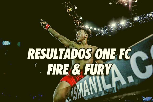 Photo of RESULTADOS ONE FC : FIRE & FURY