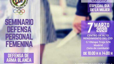 Photo of SEMINARIO GRATUITO DEFENSA PERSONAL FEMENINA POR DÍA INTERNACIONAL DE LA MUJER