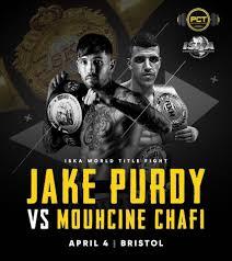 Photo of Jake Purdy vs Moucine Chafi título mundial ISKA