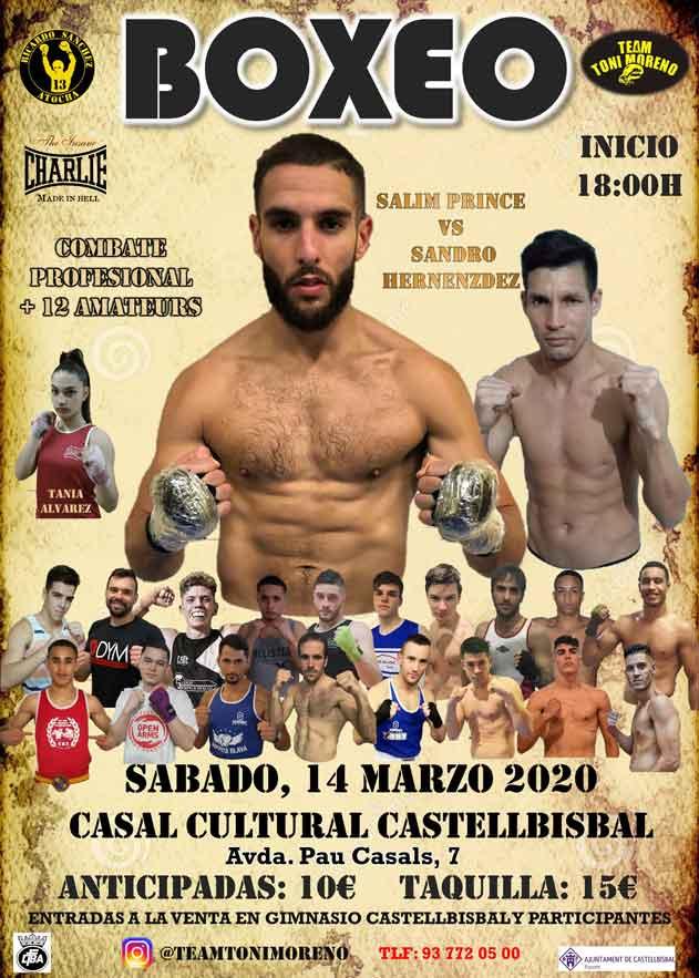 Photo of Boxeo Profesional en Castellbisbal, Sabado 14 marzo-SALIM VS SANDRO HERNANDEZ