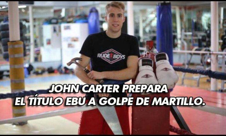 Photo of John Carter prepara el título EBU a golpe de martillo.