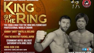 Photo of SMITH VS FUJIOKA POR EL TÍTULO DE PESO WELTER DEL WKN EN BELFAST