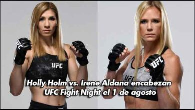 Photo of Holly Holm vs. Irene Aldana encabezan UFC Fight Night el 1 de agosto