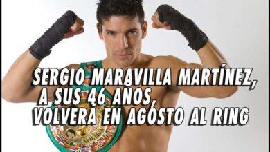 """Photo of """"Maravilla"""" Martínez planea su regreso al ring en agosto"""