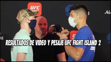 Photo of Resultados de video y pesaje UFC Fight Island 2