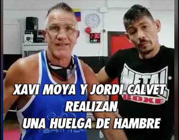 Photo of En huelga de hambre Xavi Moya y Jordi Calvet Guillén