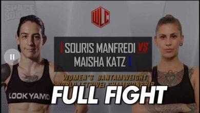 Photo of VÍDEO SOURIS MANFREDI VS MAISHA KATZ-FULL FIGHT