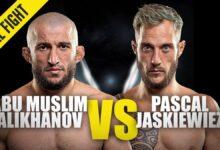 Photo of Abu Muslim Alikhanov vs. Pascal Jaskiewiez | ONE Championship Full Fight