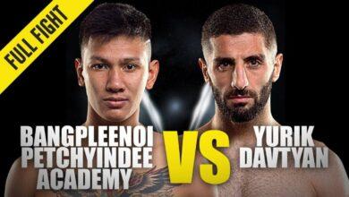 Photo of Bangpleenoi contra Yurik Davtyan | ONE Championship Full Fight